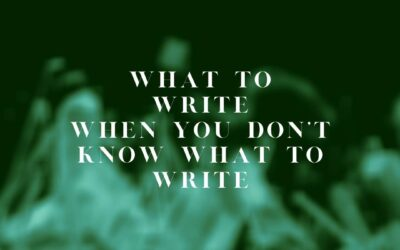 What to Write When You Don't Know What to Write: Blog Topic Brainstorming