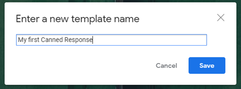 Name your Gmail or Gsuite template email